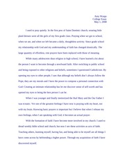 Essay for student exchange