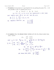 Fall 2009 Midterm #2 Solution