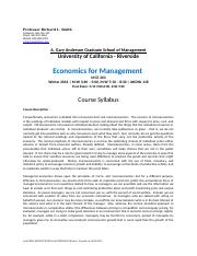 Managerial Economics Syllabus W-16(1)-4.docx