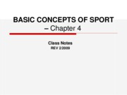 Basic Concepts of Sport-chap.7Notes-rev