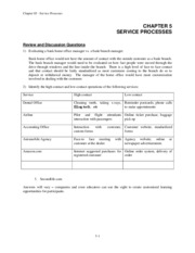 Chapter 5 Services Problem Solutions Fall 2011