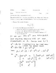 Exam 1 Solution Yellow Fall 2008