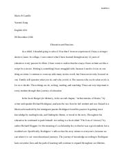 Mario's Revised Unit Three Essay