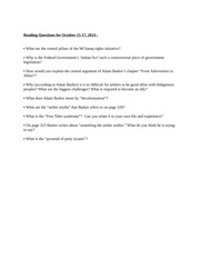 Reading questions for Oct 15-17, 2014