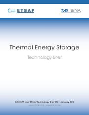 IRENA-ETSAP Tech Brief E17 Thermal Energy Storage