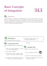 basic concepts of integration