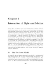 Interaction of Light and Matter notes