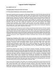 Laporan Audit Perusahaan Tbk Tidak Wajar Seputar Laporan