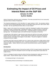 Estimating the Impact of Oil Prices and Interest Rates on the S&P 500