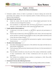 08_social_science_civics_key_notes_ch_03_why_do_we_need_a_parliament