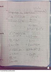 Integration by substitution of Indefinite Integrals