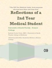 Reflections of a Second Year Medical Student - Thesis for Andrew Vivas