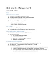 Class_Note_01_Risk_and_Its_Management