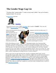 The Gender Wage Gap Lie2014