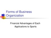 L02 Forms of Business Organization