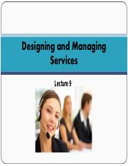 MNU- lecture 9- Managing of Services