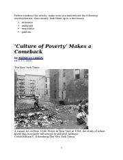 Culture of Poverty Makes a Comeback.docx
