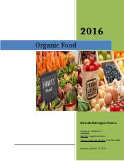 English Assignment - FINAL RESEARCH- ORGANIC FOOD (EAP500-NBS).doc