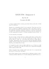 MATH 3790 Fall 2003 Assignment 4 Solutions