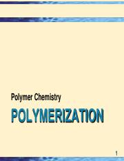 L5 - Polymerization methods
