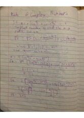 roots of complex numbers notes