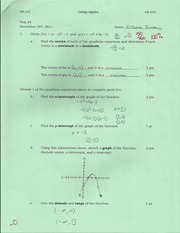 Review test 5 Functions0001