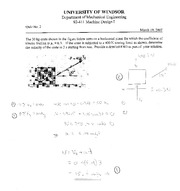 MECH 411 Winter 2007 Quiz 2 Solutions