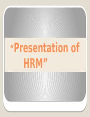 HRM in the Global Arena