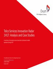 171026_Ovum_Telco Services Innovation Radar 1H17 Analysis and Case Studies.pdf