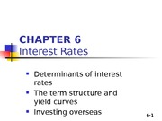 Chapter 06 - Interest rate