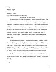 engl essay spring engl miles critical response  2 pages my favorite city mr moncriffe