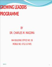 MODULE 1  GROWING LEADERS PROGRAMME - CERT IN LEADERSHIP (2).ppt