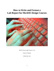ME 270 Report Writing and Formatting - Fall 2016 v2.docx