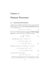 Chapter 2 - Poisson Processes