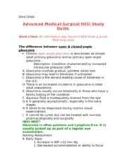 HESI Med Surg Study Guide