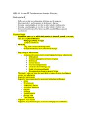 NURS 401 Lecture 10  Learning Objectives.docx