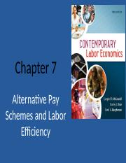 Chapter 7 (Pay Schemes)