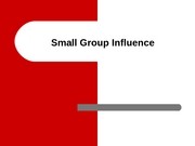 Small Group Influence 10-22