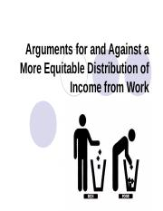 5. Arguments for and Against a More Equitable Distribution