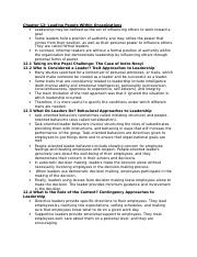 Ch. 12 notes - MGMT452