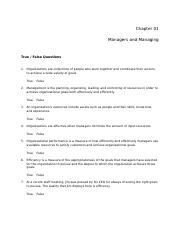 MGMT 3340 : MANAGING PEOPLE & WORK - University of Central