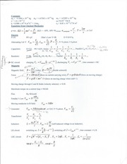 Constants Notes