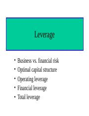 Capital Structure and Leverage1.ppt