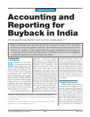 Accounting and reporting for buy back.pdf