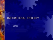 Industrial Policy 2005