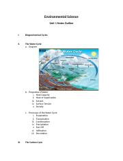 Environmental Science Unit 1 Notes Outline.docx