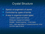 2.2 Crystal Structure