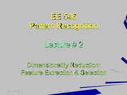 EE546_L02 - Dimensionality Reduction - Feature Extraction and Selection