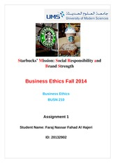 Starbucks Mission Social Responsibility and Brand Strength