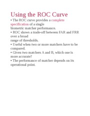 Using the ROC Curve